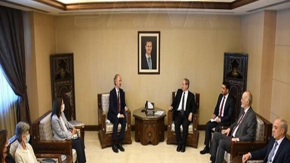 وزیر خارجه سوریه با فرستاده ویژه دبیرکل سازمان ملل متحد دیدار کرد